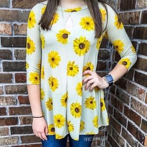 Sunflower Cut Out Top